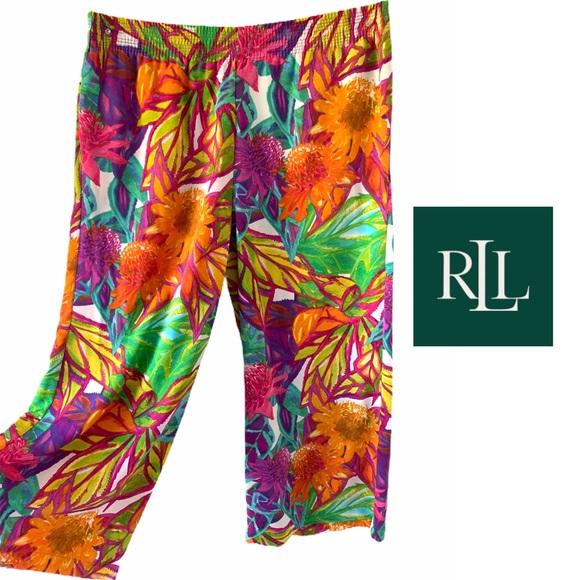 Lauren Ralph Lauren Tropical Sunny Wide Leg Pant